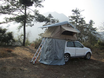 Anti Water Car Roof Mounted Tent With 2M Extendable Aluminum Ladder