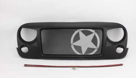 Jeep Jk Wrangler Spartan Grille_Star Material: ABS Plastic